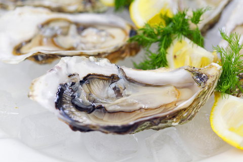 http://www.dreamstime.com/stock-photo-oysters-lemon-dill-plate-ice-image32125370